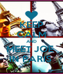KEEP CALM AND MEET JOE  IN PARIS  - Personalised Poster A4 size