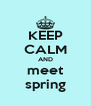 KEEP CALM AND meet spring - Personalised Poster A4 size
