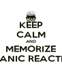 KEEP CALM AND MEMORIZE ORGANIC REACTIONS - Personalised Poster A4 size