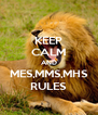 KEEP CALM AND MES,MMS,MHS RULES - Personalised Poster A4 size