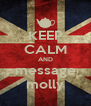 KEEP CALM AND message molly - Personalised Poster A4 size