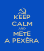 KEEP CALM AND METE A PEXÊRA - Personalised Poster A4 size