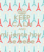 KEEP CALM AND mi jente hoy  se bebe - Personalised Poster A4 size