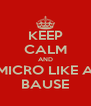 KEEP CALM AND MICRO LIKE A BAUSE - Personalised Poster A4 size