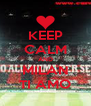 KEEP CALM AND MILAN TI AMO - Personalised Poster A4 size