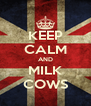 KEEP CALM AND MILK COWS - Personalised Poster A4 size