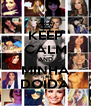 KEEP CALM AND MINHA DOIDA - Personalised Poster A4 size