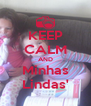 KEEP CALM AND Minhas Lindas' - Personalised Poster A4 size