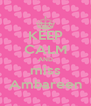 KEEP CALM AND miss Ambareen - Personalised Poster A4 size