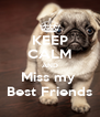 KEEP CALM AND Miss my  Best Friends - Personalised Poster A4 size