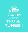 KEEP CALM AND MIX THOSE  TUNES!!! - Personalised Poster A4 size