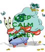 KEEP CALM AND MONEY  - Personalised Poster A4 size