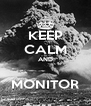 KEEP CALM AND  MONITOR - Personalised Poster A4 size