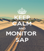 KEEP CALM AND MONITOR  SAP - Personalised Poster A4 size