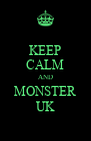 KEEP CALM AND MONSTER UK - Personalised Poster A4 size