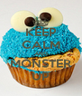 KEEP CALM AND MONSTER UP - Personalised Poster A4 size