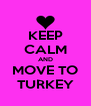 KEEP CALM AND MOVE TO TURKEY - Personalised Poster A4 size