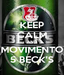 KEEP CALM AND MOVIMENTO 5 BECK'S - Personalised Poster A4 size