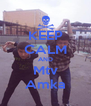 KEEP CALM AND Mtv Amka - Personalised Poster A4 size