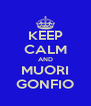 KEEP CALM AND MUORI GONFIO - Personalised Poster A4 size