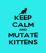 KEEP CALM AND MUTATE KITTENS - Personalised Poster A4 size