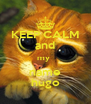 KEEP CALM and my  name hugo - Personalised Poster A4 size
