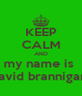 KEEP CALM AND my name is  david brannigan  - Personalised Poster A4 size