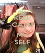 KEEP CALM AND MY SELF - Personalised Poster A4 size