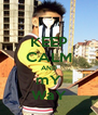 KEEP CALM AND mY WaY - Personalised Poster A4 size
