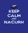 KEEP CALM AND NACURH  - Personalised Poster A4 size
