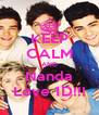 KEEP CALM AND Nanda Love 1D!!! - Personalised Poster A4 size