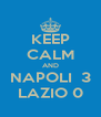 KEEP CALM AND NAPOLI  3 LAZIO 0 - Personalised Poster A4 size