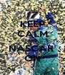 KEEP CALM AND NASCAR  ON - Personalised Poster A4 size