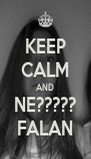 KEEP CALM AND NE????? FALAN - Personalised Poster A4 size