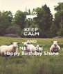 KEEP CALM AND NEFF On! Happy Birthday Shane - Personalised Poster A4 size