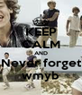 KEEP CALM AND Never forget wmyb - Personalised Poster A4 size