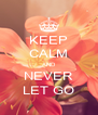 KEEP CALM AND NEVER LET GO - Personalised Poster A4 size
