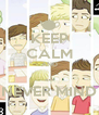 KEEP CALM AND ... NEVER MIND - Personalised Poster A4 size