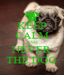 KEEP CALM AND NEVER THE DOG - Personalised Poster A4 size