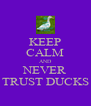 KEEP CALM AND NEVER TRUST DUCKS - Personalised Poster A4 size