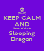 KEEP CALM AND Never Wake A Sleeping Dragon - Personalised Poster A4 size