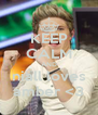 KEEP CALM AND niall loves amber <3 - Personalised Poster A4 size