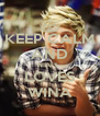 KEEP CALM AND NIALL  LOVES WINA - Personalised Poster A4 size