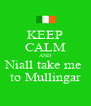KEEP CALM AND Niall take me  to Mullingar - Personalised Poster A4 size