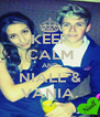 KEEP CALM AND NIALL & VANIA. - Personalised Poster A4 size