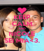 KEEP CALM AND NICOLE SEI MIA<3. - Personalised Poster A4 size
