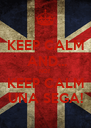 KEEP CALM  AND... NO!! KEEP CALM UNA SEGA! - Personalised Poster A4 size