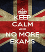 KEEP CALM AND NO MORE EXAMS - Personalised Poster A4 size