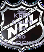 KEEP CALM AND No  NHL LOCKOUT  - Personalised Poster A4 size