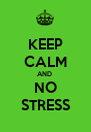 KEEP CALM AND  NO STRESS - Personalised Poster A4 size
